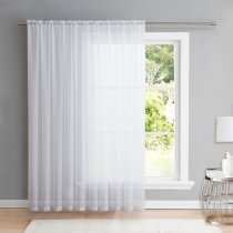 NICETOWN Rod Pocket 100 Inches Wide  Terylene Sheer Voile, 1 Panel