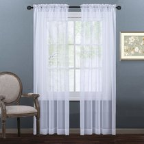 NICETOWN Rod Pocket Sheer Curtains, 60 Inches Wide