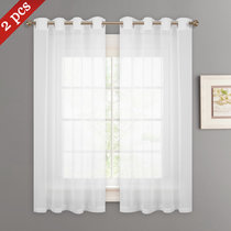 NICETOWN Grommet Doris Sheer Curtains Linen Look Voile Drapes Panels, 2 Panels, 55 Inches Wide