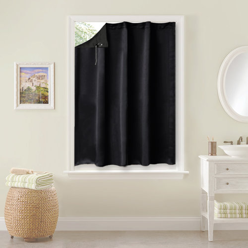 NICETOWN One Panel Travel Blackout Blind Curtains / Drapes, 1 Panel, 51 Inch Wide x 78 Inch Long