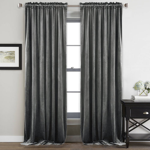 NICETOWN Luxury and Soft Velvet Curtains with Rod Pocket, 52 Inches Wide, 2 panels