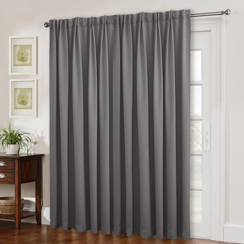 NICETOWN Back Tab Patio Door Curtains, 100 Inches Wide, 1 Panel