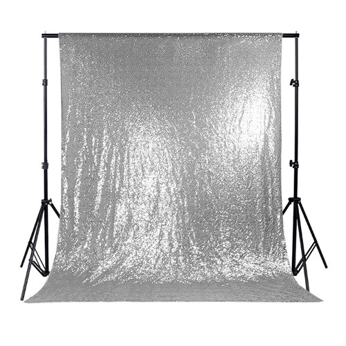 Shinny Sparkling Backdrop Fabric Decorations - Sequin Fabric Shinny Sparkling Backdrop for Wedding/Party/Photography/Curtain/Birthday/Christmas/Prom, 53 Inches W x 78 Inches L