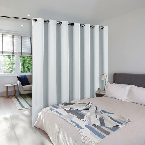 NICETOWN Room Divider Curtain Screen Partitions, Full Length Hospital Medical Clinic SPA Lab Cubicle Curtain Divider Privacy Screen (One Panel)