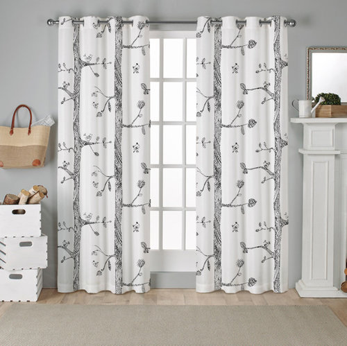 Birds Pattern blackout curtains 52 Inches wide, 2 Panels
