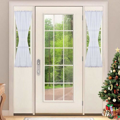 NICETOWN Voile Door Panel with Bonus Tieback 30 Inches Wide & 60 Inches Wide