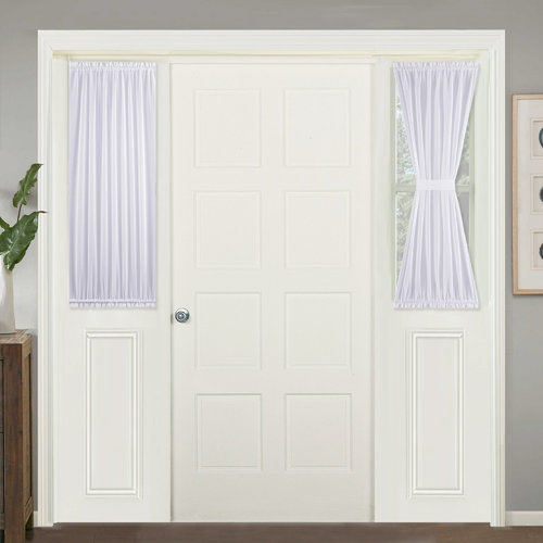 NICETOWN Doris Sheer Faux Linen Curtain French Voile Door Panel, 1 Panel, 40 / 72 Inches Long