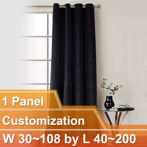 NICETOWN Luxury and Soft Velvet Curtains with Grommet, W30~108 by L40~200 Inches, 1 panel