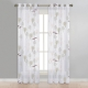 NICETOWN Summer Forest Camping and Animals Pattern Sheer Curtains Grommet Top Window Voile Panel/Drapes for Boys'/Girls'Bedroom/Nursery, 1 Panel = 52 W, 2 Panels