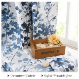 Custom Watercolor Aesthetic Foliage Pattern Short Blackout Pattern Insulated Privacy Blackout Curtain by NICETOWN ( 1 Panel )
