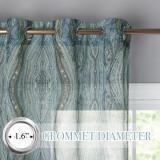 Custom Tree Stripe Printed Semi Sheer Curtain for Living Room by NICETOWN ( 1 Panel )
