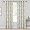 Custom Multicolor Damask Medallion Pattern Short Blackout Pattern Insulated Privacy Blackout Curtain by NICETOWN ( 1 Panel )