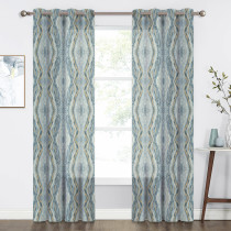 Custom Tree Stripe Printed Semi Sheer Curtain for Living Room by NICETOWN ( 1 Panel )