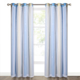 Custom Star Curtain for Kids Bedroom Hollow Out Twinkle Stars Pattern Double Layer Colorful Stripes Blackout Curtain for Livingroom by NICETOWN ( 1 Panel )