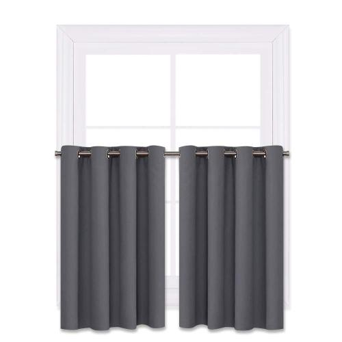 Custom Short Curtain Half Window Curtain Privacy Curtain Tiers for Windows Bathroom Shade by NICETOWN ( 1 Panel )