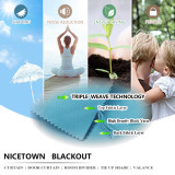 Custom Outdoor Curtain for Patio Waterproof & Windproof Thermal Insulated Top and Bottom Fixed Rustproof Grommets Light Block Outdoor Curtain Drape for Pool by NICETOWN  ( 1 Panel )