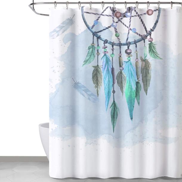 NICETOWN Custom Native American Farmhouse Pattern Shower Curtain