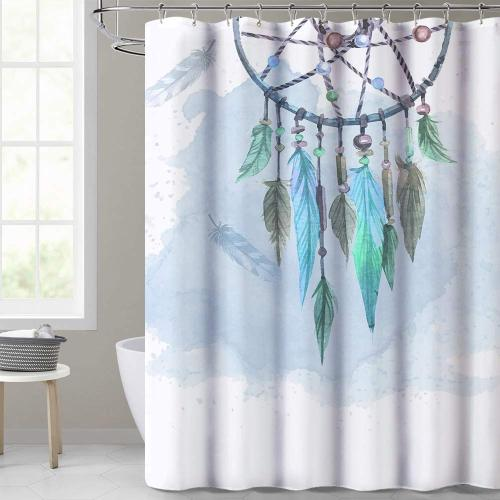 Native American Design Dreamcatcher Printed Home Decor Farmhouse Shower Curtain,Sold as 1 Panel