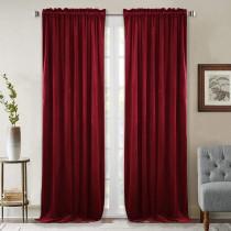 NICETOWN Solid Blackout Velvet Curtain Drapery (1 Panel)