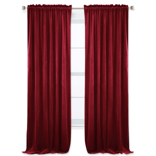 NICETOWN Solid Blackout Velvet Curtain Drapery (1 Panel)