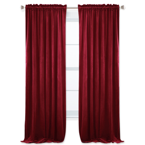 Thick Heavy Duty Blackout Noise Reduction Velvet Curtain,Sold as 1 Panel