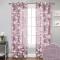 NICETOWN Farmhouse Floral Botanical Voile Sheer Curtain(1 Panel)