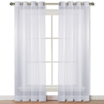 Solid Voile Sheer Curtain Panel,Sold as 1 Panel