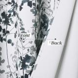 Custom Watercolor Leaves Pattern Short Blackout Pattern Short Insulated Blackout Curtain by NICETOWN ( 1 Panel )