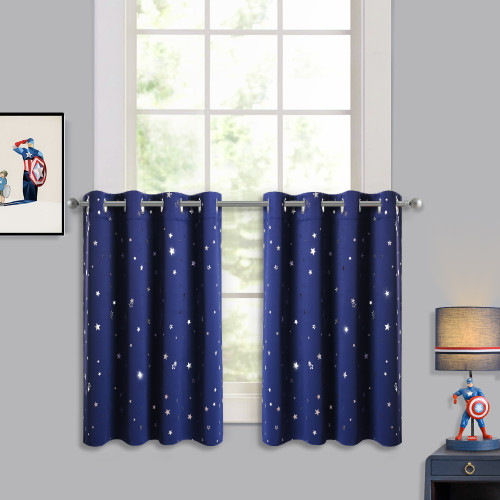 NICETOWN Window Curtain Tier Curtain with Twinkle Star (1 Panel)