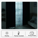 Custom Casual Style Shooting Star Pattern Short Blackout Pattern Thick Thermal Insulated Blackout Curtain by NICETOWN ( 1 Panel )