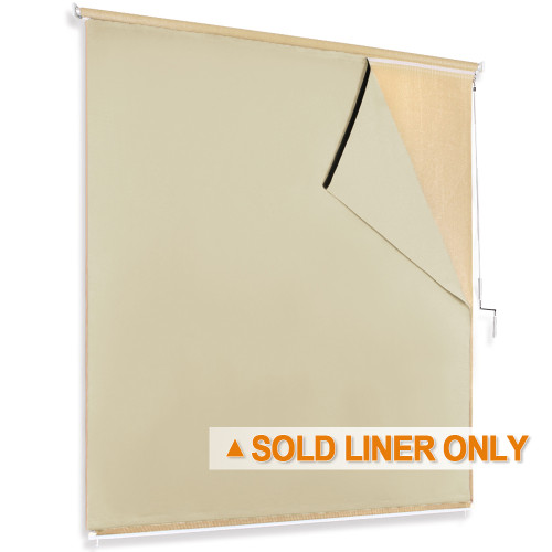 NICETOWN Solid Blackout Liner for Roller Bamboo Shades  (1 Panel)