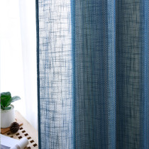 Bohemia Striped Linen Textured Sheer Curtain (1 Panel)