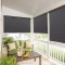 Blackout Liner Match for Roll up Bamboo Blind Shades Light Block for Indoor Outdoor Privacy Barrier, Give Sticky Strap for Installation ,Sold as 1 Panel