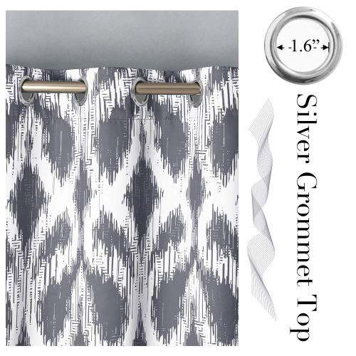 Morden Dynamic Sound Wave Lines Pattern Curtain(1 Panel)