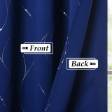 Custom Blackout Curtain Microfiber Noise Reducing Thermal Insulated Wave Line with Dots Foil Print Design Blackout Curtain by NICETOWN ( 1 Panel )