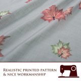 Custom Maple Leaf Textured Printed Voile Semi Sheer Curtain for Living Room by NICETOWN ( 1 Panel )