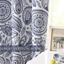 Custom Floral Bohemian Pattern Blackout Pattern Thick Thermal Insulated Blackout Curtain by NICETOWN ( 1 Panel )