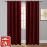 Custom Flame Retardant Blackout Curtain Energy Efficiency for Living Room / Bedroom / Factory / Hotel by NICETOWN ( 1 Panel )
