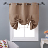 Made to Order Roman Shades Valance for Windows Tie Up Balloon Curtain Blind for Kitchen / Bathroom by NICETOWN ( 1 Panel )