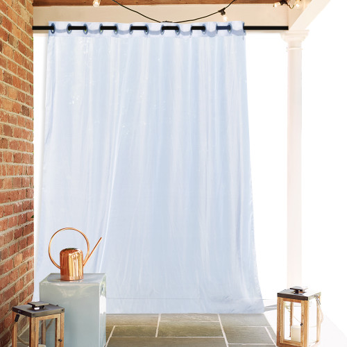 Extra Wide Outdoor Sheer Curtain (1 Panel)