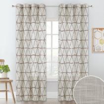 NICETOWN Linen Texture Wave Fabric Light Glare Filter Blackout Curtain (1 Panel)