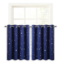 Window Curtain Tier Curtain with Twinkle Star (1 Panel)