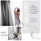 Custom Voile Textured  Sheer Tier Curtain Custom Voile Textured  Short Sheer Tier Curtain Sheer Drape for Kitchen by NICETOWN ( 1 Panel )
