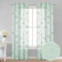NICETOWN Flower Wisteria Sheer Curtain (1 Panel)