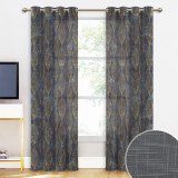 Custom Leaf Pattern Linen Texture Semi-Sheer Curtain Privacy Drape for Living Room / Bedroom by NICETOWN ( 1 Panel )