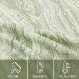 Custom Three Stripe Printed Pattern Room Darkening Blackout Energy Saving Curtain for Living Room / Bedroom by NICETOWN ( 1 Panel )