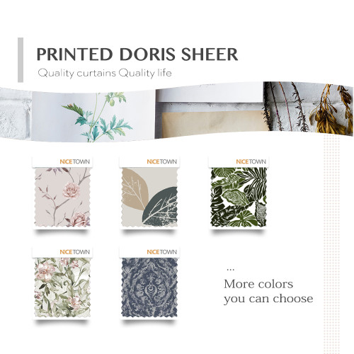 Prints Linen Look Doris Sheer Fabric Swatch Refundable Order Amount Over $399