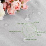 NICETOWN Solid Outdoor Sheer Waterproof Fabric Swatch Refundable Order Amount Over $199