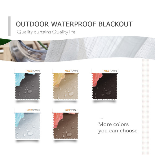 Solid Outdoor Blackout Waterproof Fabric Swatch Refundable Order Amount Over $399