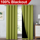 Custom 2 Layers 100% Blackout Curtains Thermal Insulated Curtain for Bedroom by NICETOWN ( 1 Panel )